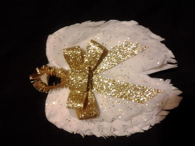 Coffee Filter Angel Wing Ornaments