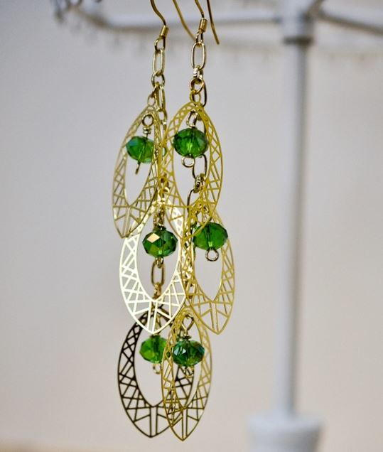 Green with Envy Dangle Earrings