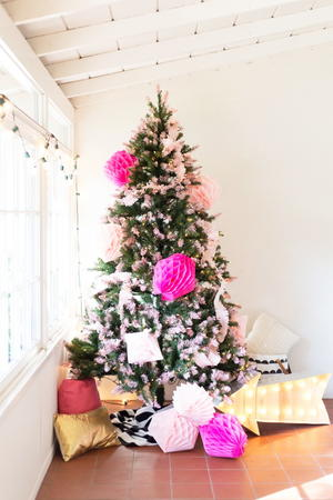 Pink Tipped Christmas Tree