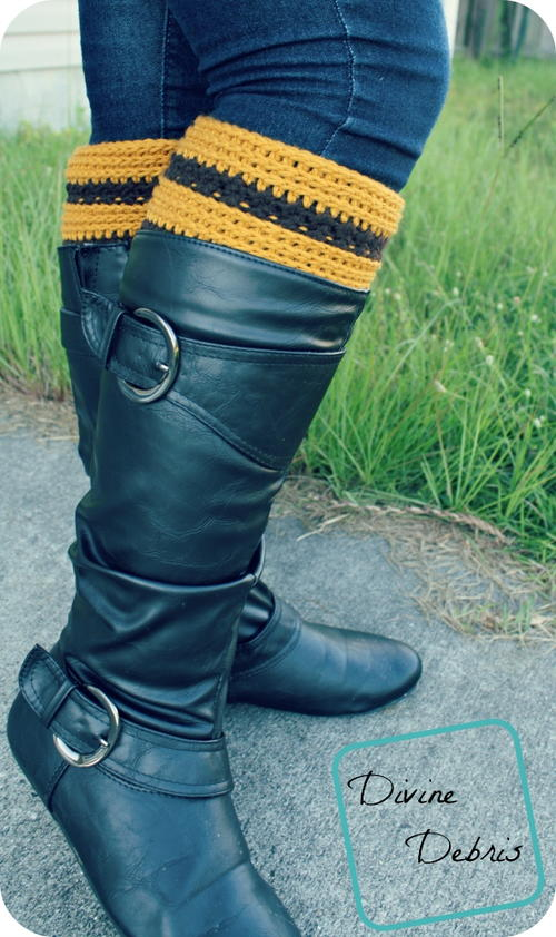 Striped Crocheted Boot Cuffs_2
