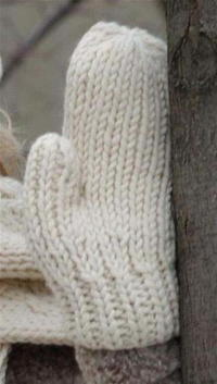Warm Wool Mittens Free Knitting Pattern