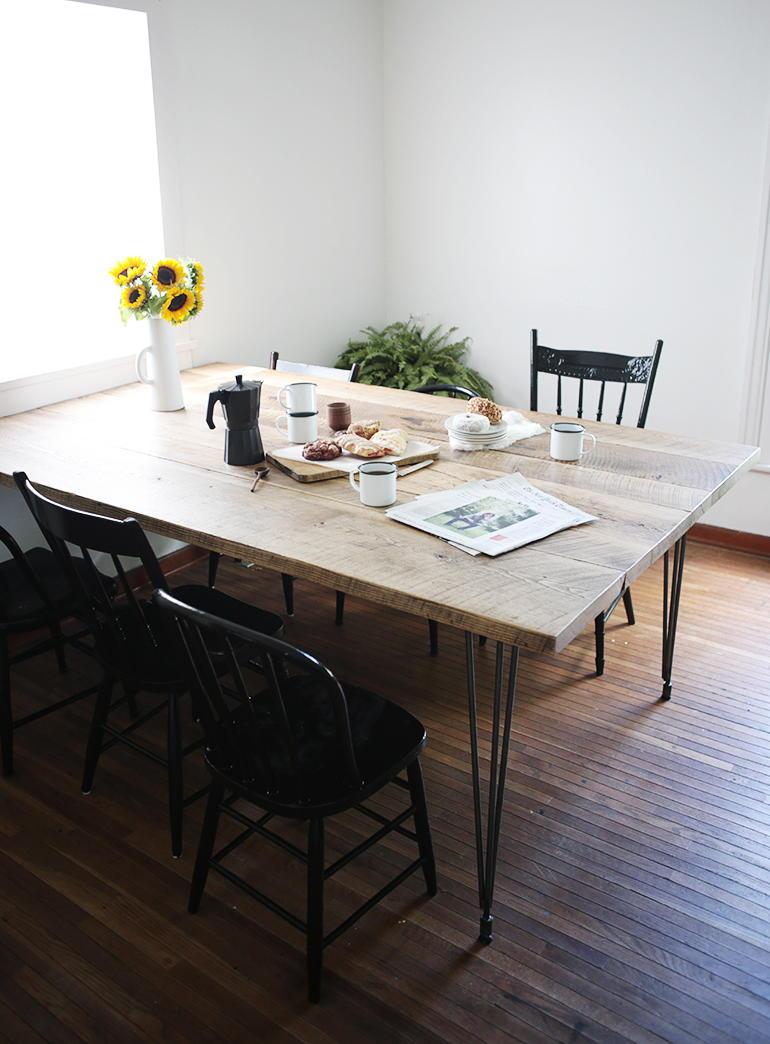 Minimalist Reclaimed Wood Table Diyideacenter Com