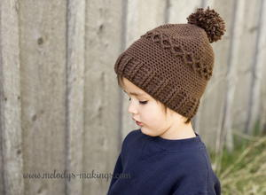 Slouchy Knit or Crochet Diamond Cap
