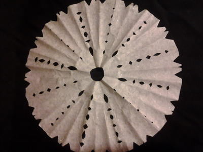 Coffee Filter Snowflake Ornaments