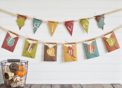 Charming Envelope Thanksgiving Banner
