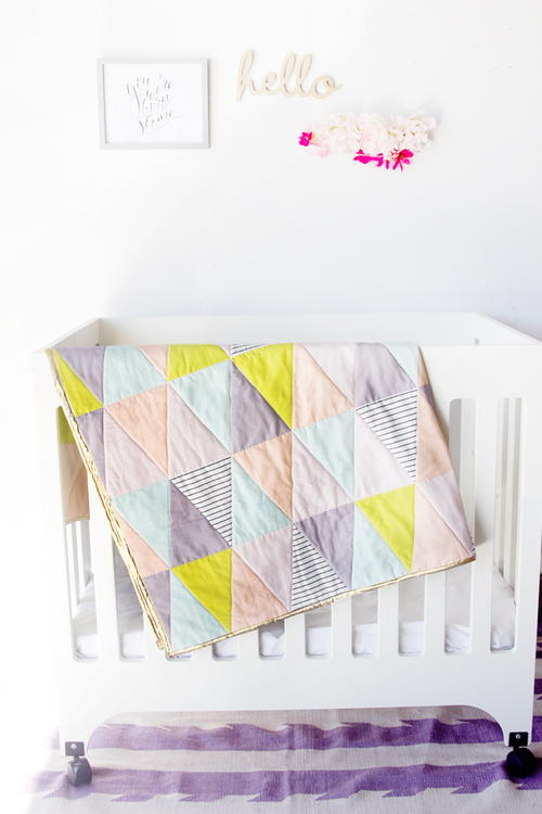 Supersonic Triangle Baby Quilt