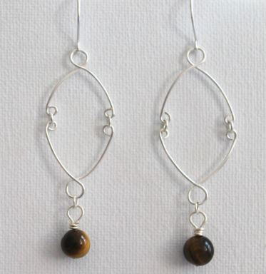 Dangling Bead Wire Earrings