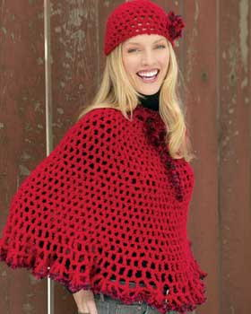 Lacy Poncho and Cap