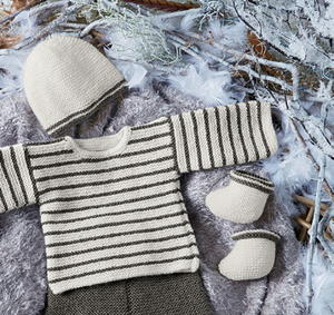 Knit Hat and Booties Set