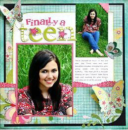Teen Scrapbook Layout