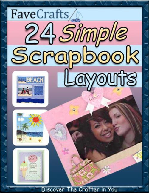 24 Simple Scrapbook Layouts Free EBook