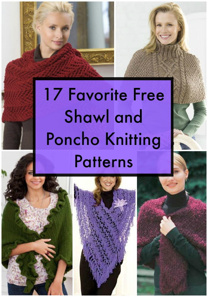 17 Favorite Free Shawl and Poncho Knitting Patterns FaveCrafts.com