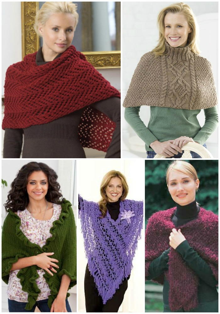 19 favorite free shawl and poncho knitting patterns for Fave crafts knitting patterns