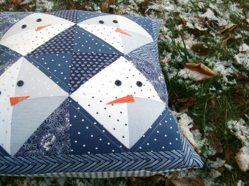 Snowman DIY Pillow Pattern