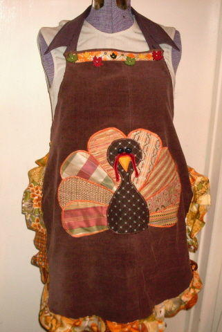 Scraptacular Turkey Time Apron Allfreesewing Com