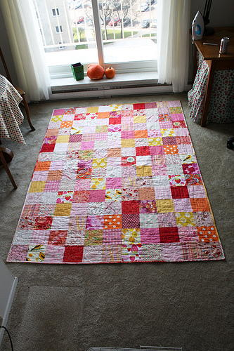 Pink Colors Quilt Tutorial