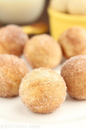 Baked Snickerdoodle Doughnut Holes