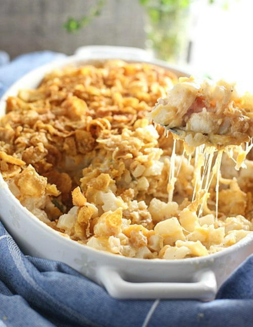 Cheesy Crunchy Potato Casserole