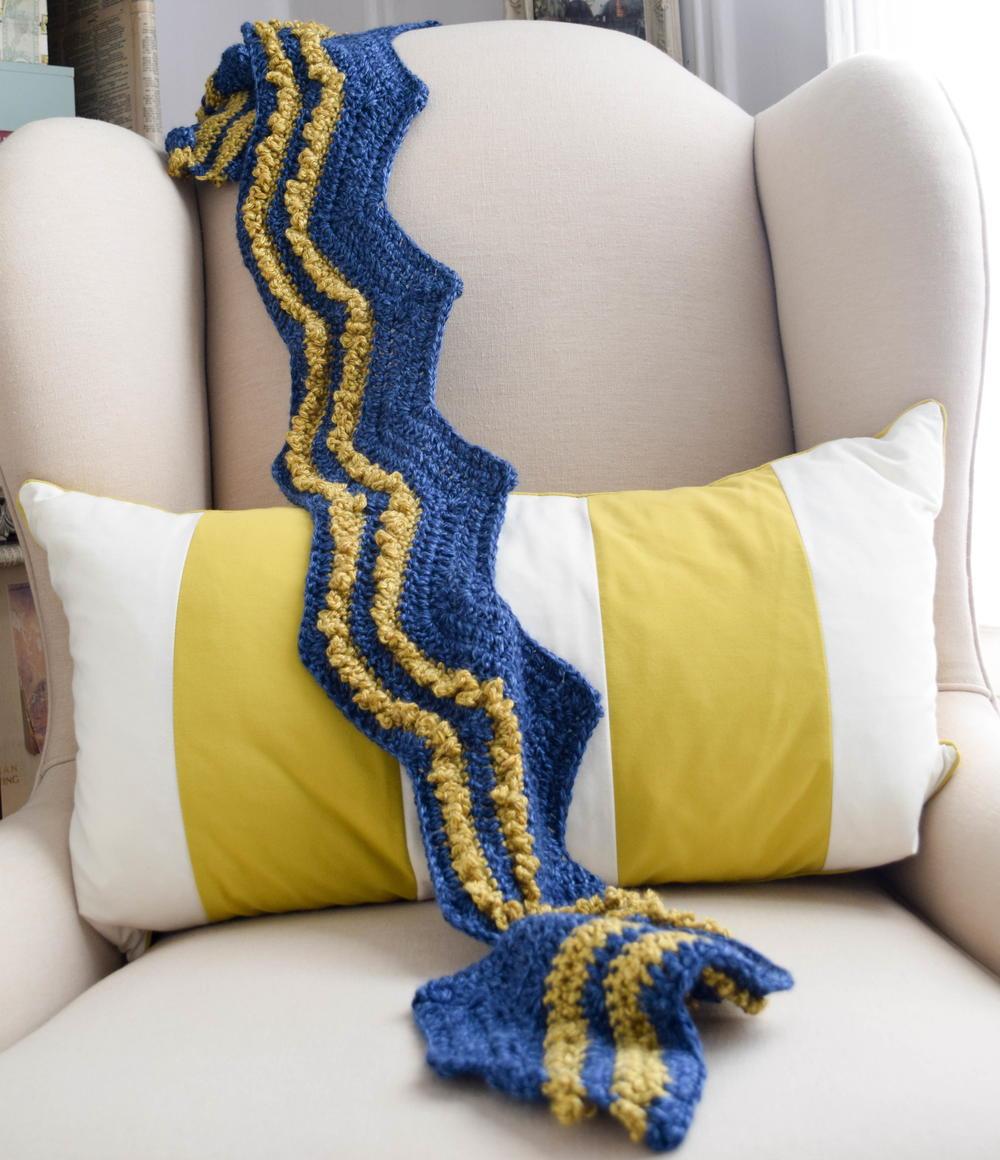 Valiant Stripes Crochet Scarf Pattern FaveCrafts.com