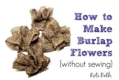 No Sew Easy Burlap Flowers