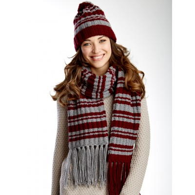Varsity Stripes Scarf and Hat