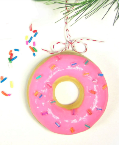 DIY Donut Christmas Ornament