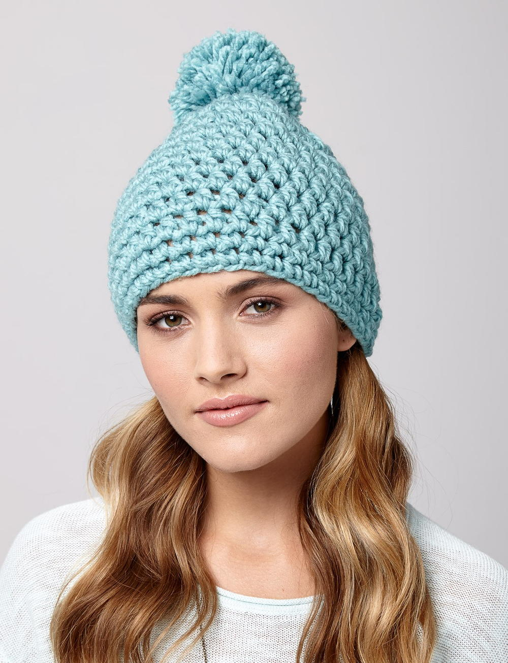 Crochet Patterns With Super Fine Yarn : Snow Drift Crochet Hat AllFreeCrochet.com