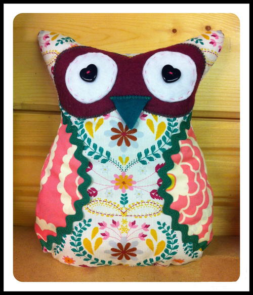 Fat Quarter Owl Cushion