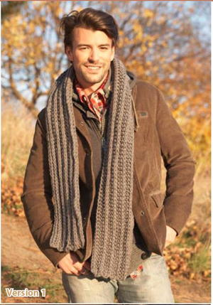 He's the Man Crochet Scarf