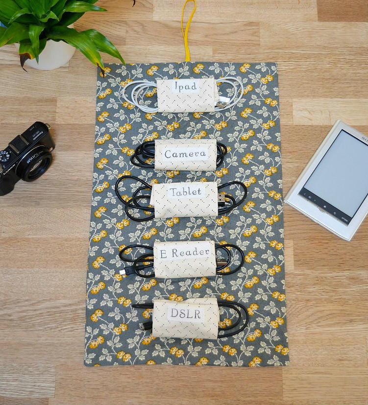 diy cord organizer. Black Bedroom Furniture Sets. Home Design Ideas
