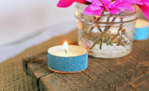 30 Second Glitter Tea Lights