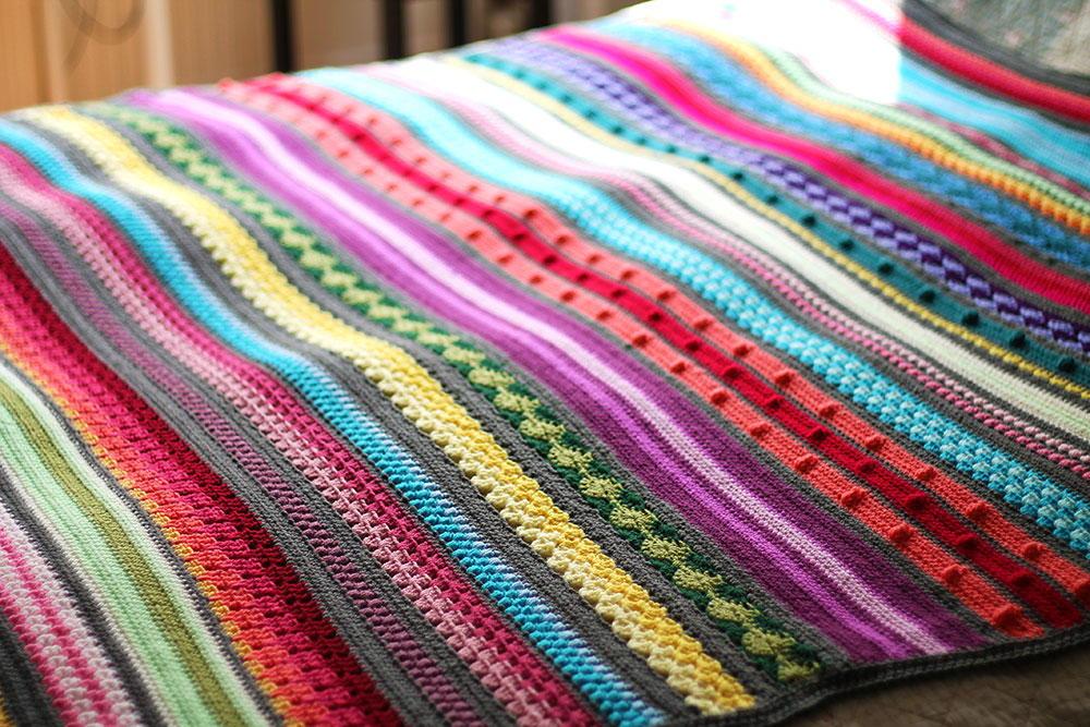 Rainbow Sampler Blanket Allfreecrochet Com