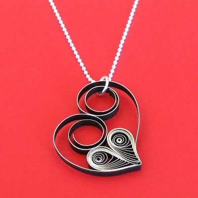 Quilled Heart Pendant
