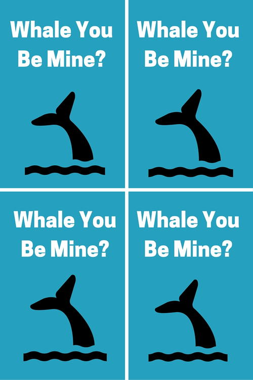 Whale You Be Mine Valentine