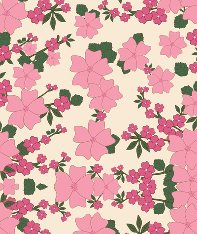 Pink Spring Printable Wrapping Paper