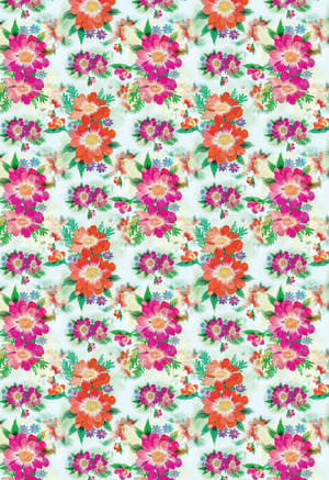 image relating to Printable Wrapping Paper named Shiny Blooms Printable Wrapping Paper