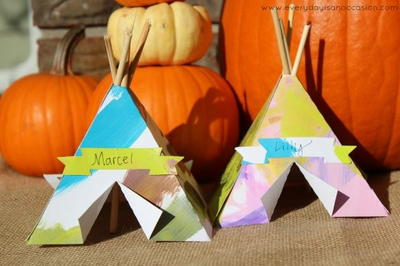 Too-Cute Tepee Place Cards