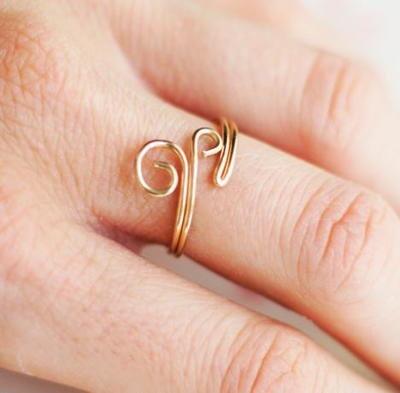 Wire Wrapped Swirly Ring