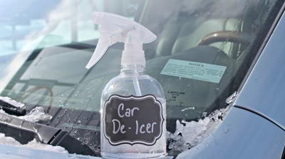 Two Ingredient De-Icer Spray