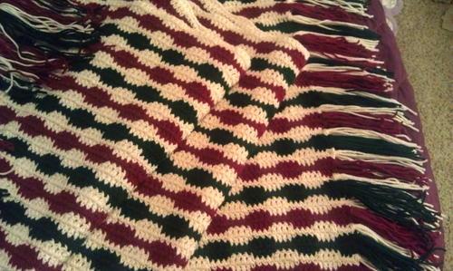 Striped Christmas Crochet Blanket Allfreecrochetafghanpatternscom
