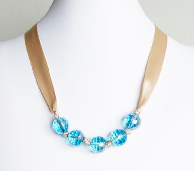 Tranquil Turquoise DIY Ribbon Necklace