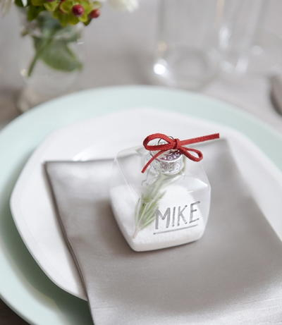 DIY Ornament Place Cards