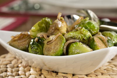 EDR Balsamic Glazed Brussels Sprouts