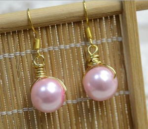 Pink Pearl DIY Earrings