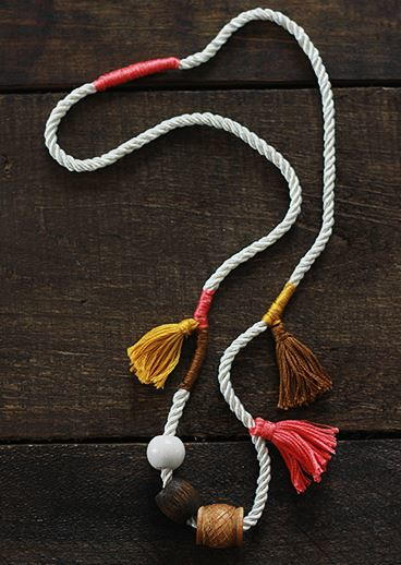 Anthropologie Knock Off DIY Tassel Necklace