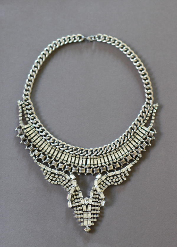 Vintage Rhinestone DIY Necklace