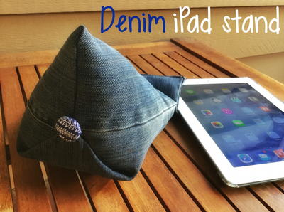 Denim DIY Tablet Stand