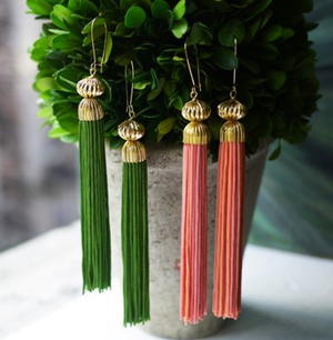 Colorful DIY Tassel Earrings