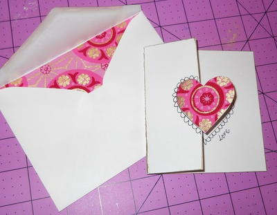 Handmade with Love Valentine Card