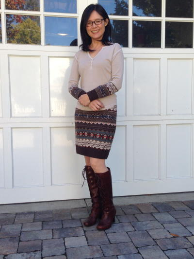 Upcycled Sweater Outfit